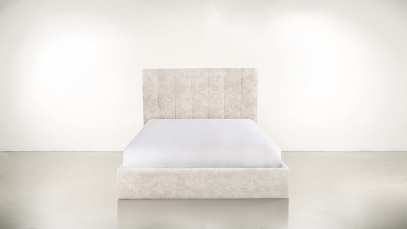 The Maximalist Queen Bed Queen Bed Crushed Micro-Chenille Snow Whom. Home