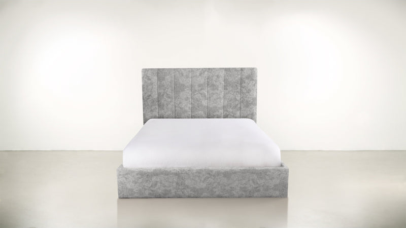 The Maximalist Queen Bed Queen Bed Crushed Micro-Chenille Stone Whom. Home