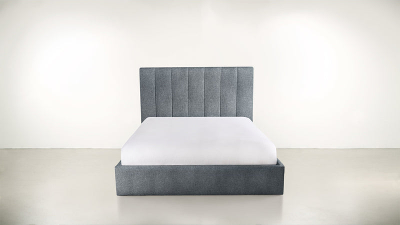 The Maximalist Queen Bed Queen Bed Lightweight Micro-Chenille French Blue Whom. Home