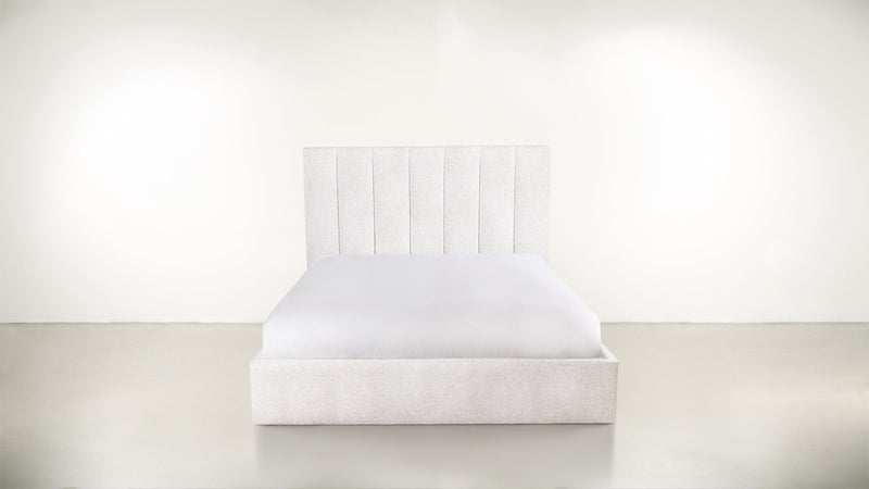 The Maximalist Queen Bed Queen Bed Lightweight Micro-Chenille Snow Whom. Home