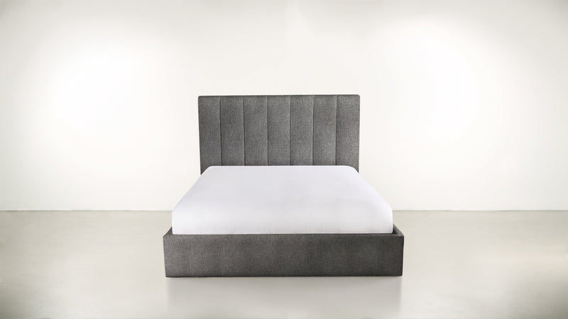 The Maximalist Queen Bed Queen Bed Soft Heathered Weave Charcoal Whom. Home