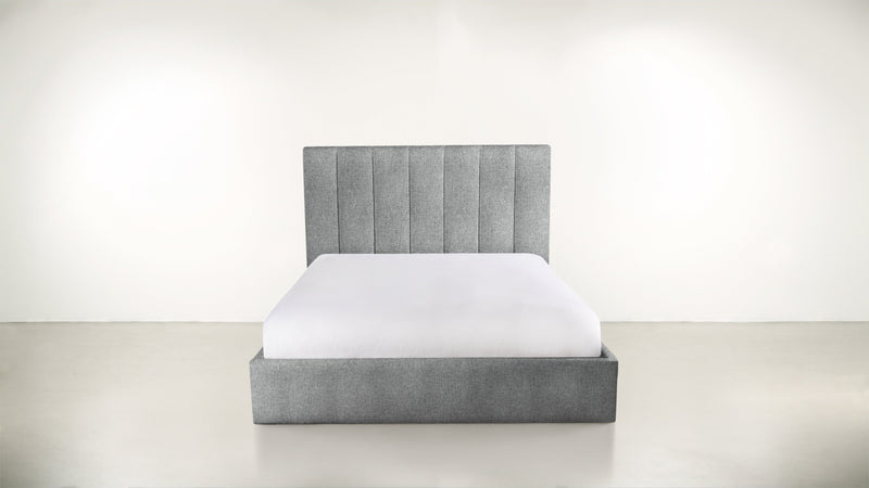 The Maximalist Queen Bed Queen Bed Soft Heathered Weave Platinum Whom. Home