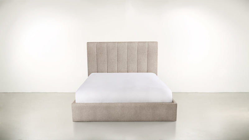 The Maximalist Queen Bed Queen Bed Structured Linen Weave Sand Whom. Home