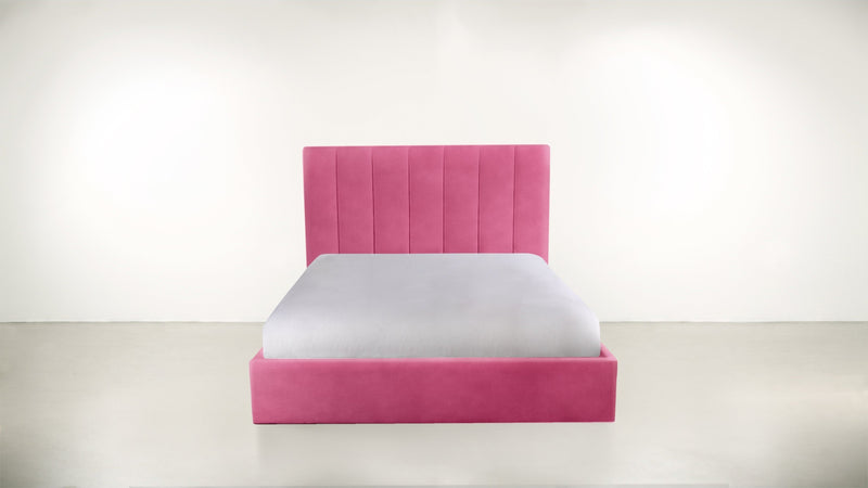 The Maximalist Queen Bed Queen Bed Structured Velvet Flamingo Whom. Home