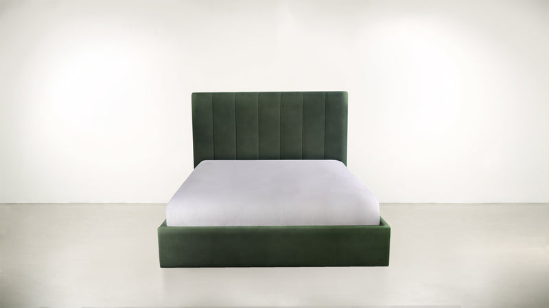 The Maximalist Queen Bed Queen Bed Velvet Knit Evergreen Whom. Home