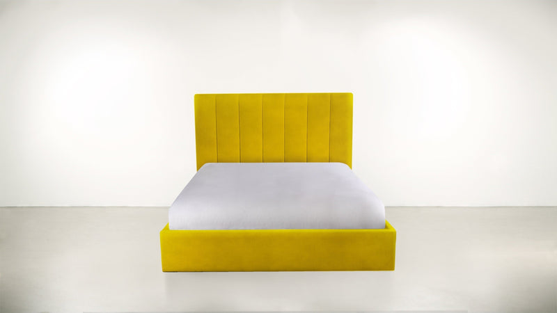 The Maximalist Queen Bed Queen Bed Velvet Knit Marigold Whom. Home