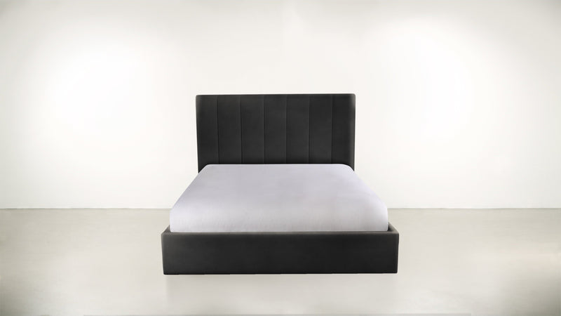 The Maximalist Queen Bed Queen Bed Velvet Knit Onyx Whom. Home