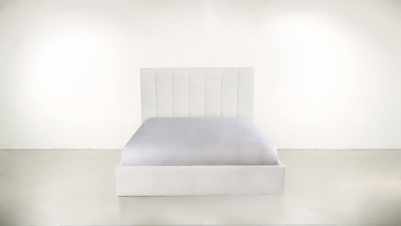 The Maximalist Queen Bed Queen Bed Velvet Knit White Whom. Home