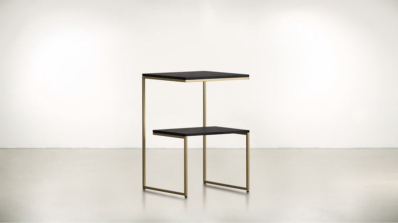 The Overachiever Side Table Side Table Brass / Chocolate Whom. Home
