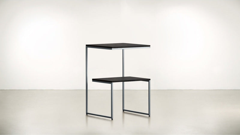 The Overachiever Side Table Side Table Silver / Chocolate Whom. Home