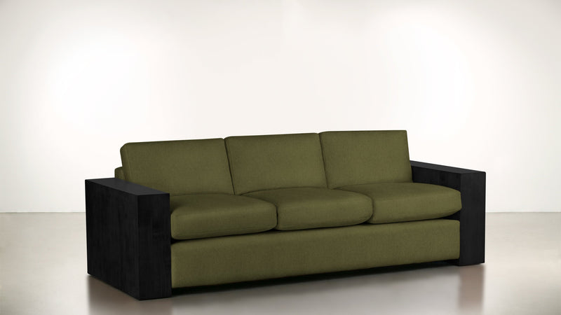 The Philosopher Sofa 6' Sofa Lightweight Micro-Chenille Avocado / Blackw Whom. Home