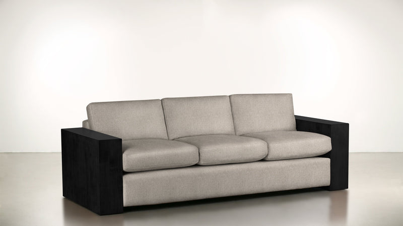 The Philosopher Sofa 6' Sofa Lightweight Micro-Chenille Sand / Blackw Whom. Home