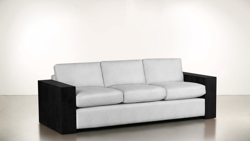 The Philosopher Sofa 6' Sofa Lightweight Micro-Chenille Snow / Blackw Whom. Home