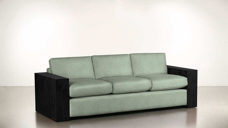 The Philosopher Sofa 6' Sofa Lightweight Micro-Chenille Spa / Blackw Whom. Home