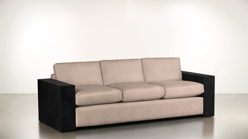 The Philosopher Sofa 6' Sofa Soft Heathered Weave Blush / Blackw Whom. Home