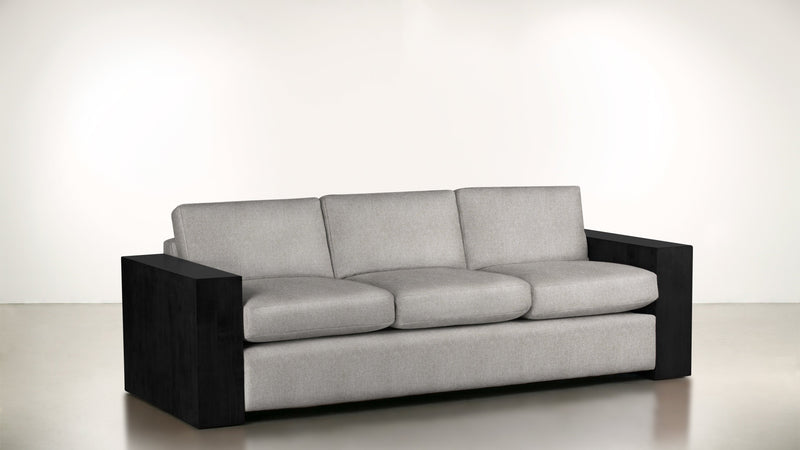 The Philosopher Sofa 6' Sofa Structured Linen Weave Dove / Blackw Whom. Home