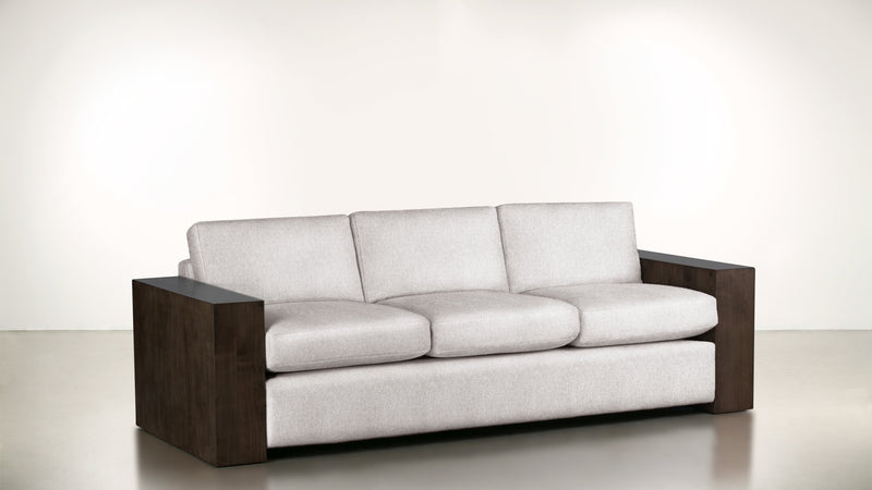 The Philosopher Sofa 6' Sofa Fine Linen Weave Cotton / Chocolate Whom. Home
