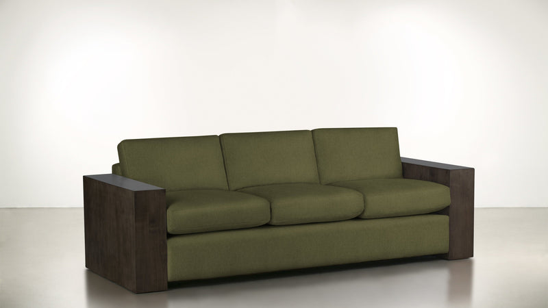 The Philosopher Sofa 6' Sofa Lightweight Micro-Chenille Avocado / Chocolate Whom. Home