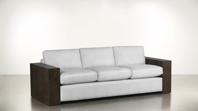 The Philosopher Sofa 6' Sofa Lightweight Micro-Chenille Snow / Chocolate Whom. Home