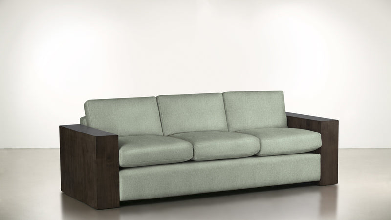 The Philosopher Sofa 6' Sofa Lightweight Micro-Chenille Spa / Chocolate Whom. Home