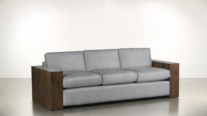 The Philosopher Sofa 6' Sofa Lightweight Micro-Chenille Dove / Hazel Whom. Home