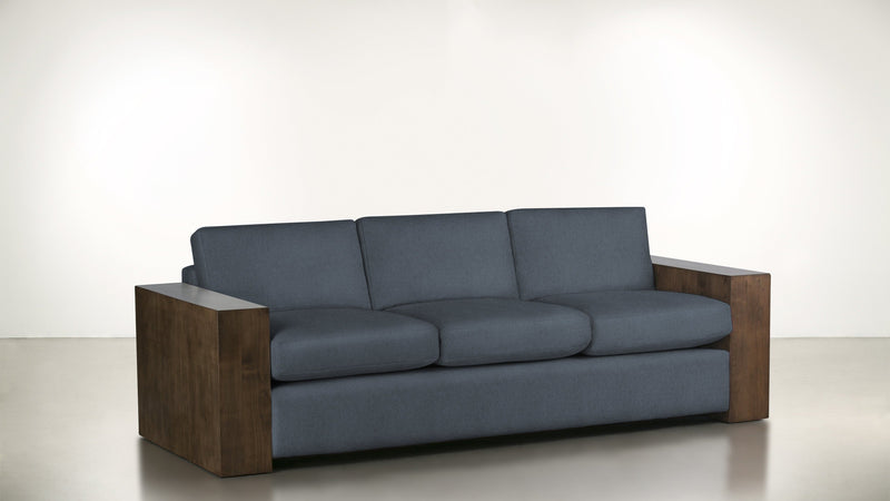 The Philosopher Sofa 6' Sofa Lightweight Micro-Chenille French Blue / Hazel Whom. Home