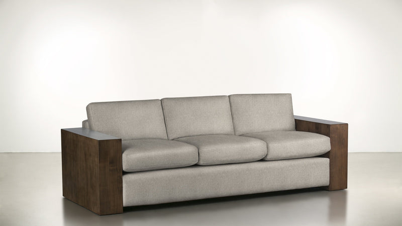 The Philosopher Sofa 6' Sofa Lightweight Micro-Chenille Sand / Hazel Whom. Home