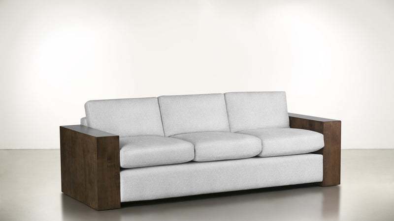 The Philosopher Sofa 6' Sofa Lightweight Micro-Chenille Snow / Hazel Whom. Home
