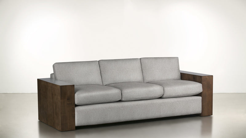 The Philosopher Sofa 6' Sofa Structured Linen Weave Dove / Hazel Whom. Home