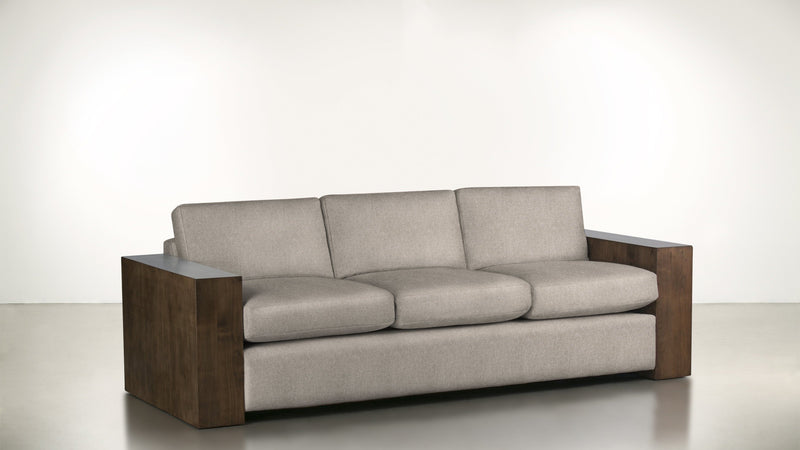 The Philosopher Sofa 6' Sofa Structured Linen Weave Sand / Hazel Whom. Home