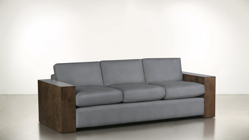 The Philosopher Sofa 6' Sofa Structured Linen Weave Steel / Hazel Whom. Home