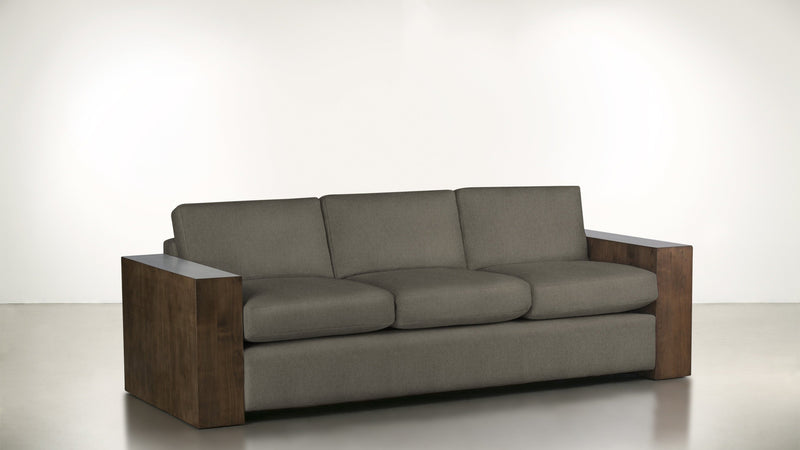 The Philosopher Sofa 6' Sofa Structured Linen Weave Taupe / Hazel Whom. Home