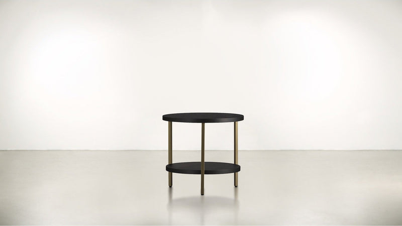 The Pluralist Side Table Side Table Brass / Chocolate Whom. Home