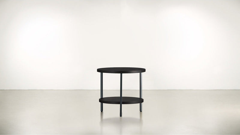 The Pluralist Side Table Side Table Silver / Chocolate Whom. Home