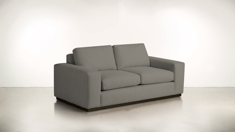 The Pragmatist Sofa 5' Sofa Boucle Knit Ash / Chocolate Whom. Home