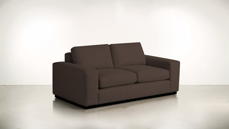The Pragmatist Sofa 5' Sofa Boucle Knit Chocolate / Blackw Whom. Home