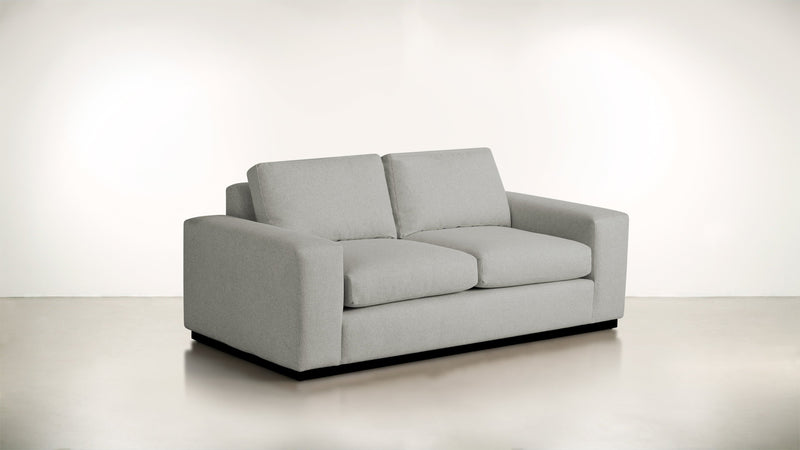 The Pragmatist Sofa 5' Sofa Boucle Knit Platinum / Blackw Whom. Home