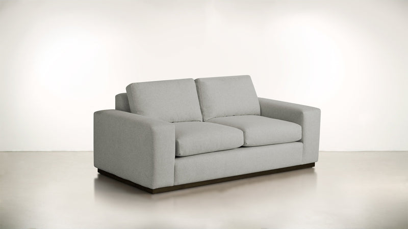 The Pragmatist Sofa 5' Sofa Boucle Knit Platinum / Chocolate Whom. Home