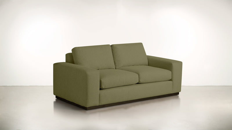 The Pragmatist Sofa 5' Sofa Lightweight Micro-Chenille Avocado / Chocolate Whom. Home