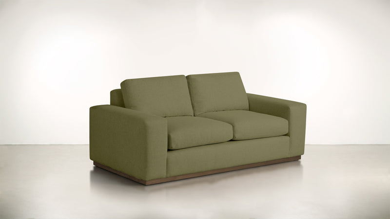 The Pragmatist Sofa 5' Sofa Lightweight Micro-Chenille Avocado / Hazel Whom. Home