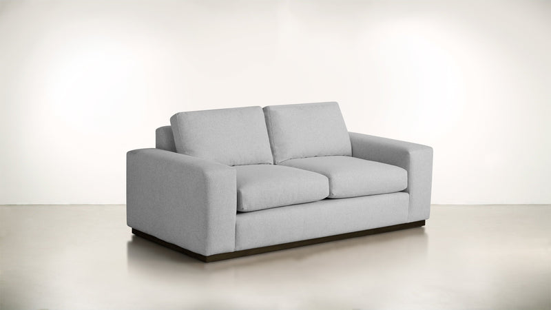 The Pragmatist Sofa 5' Sofa Lightweight Micro-Chenille Dove / Chocolate Whom. Home