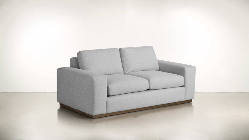 The Pragmatist Sofa 5' Sofa Lightweight Micro-Chenille Dove / Hazel Whom. Home