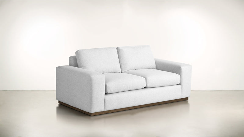 The Pragmatist Sofa 5' Sofa Lightweight Micro-Chenille Snow / Hazel Whom. Home