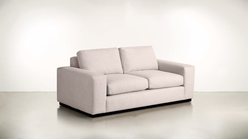 The Pragmatist Sofa 5' Sofa Soft Heathered Weave Blush / Blackw Whom. Home