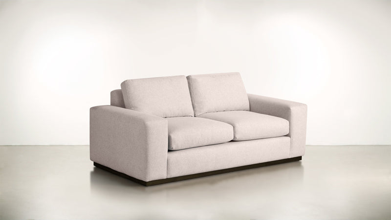 The Pragmatist Sofa 5' Sofa Soft Heathered Weave Blush / Chocolate Whom. Home