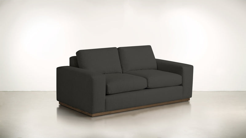 The Pragmatist Sofa 5' Sofa Soft Heathered Weave Charcoal / Hazel Whom. Home