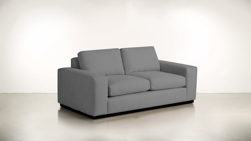 The Pragmatist Sofa 5' Sofa Soft Heathered Weave Platinum / Blackw Whom. Home
