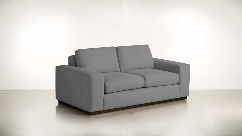 The Pragmatist Sofa 5' Sofa Soft Heathered Weave Platinum / Chocolate Whom. Home