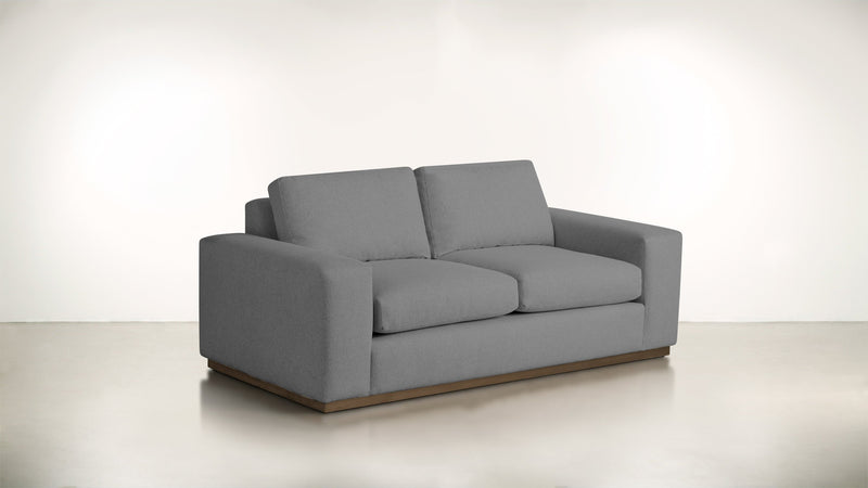 The Pragmatist Sofa 5' Sofa Soft Heathered Weave Platinum / Hazel Whom. Home