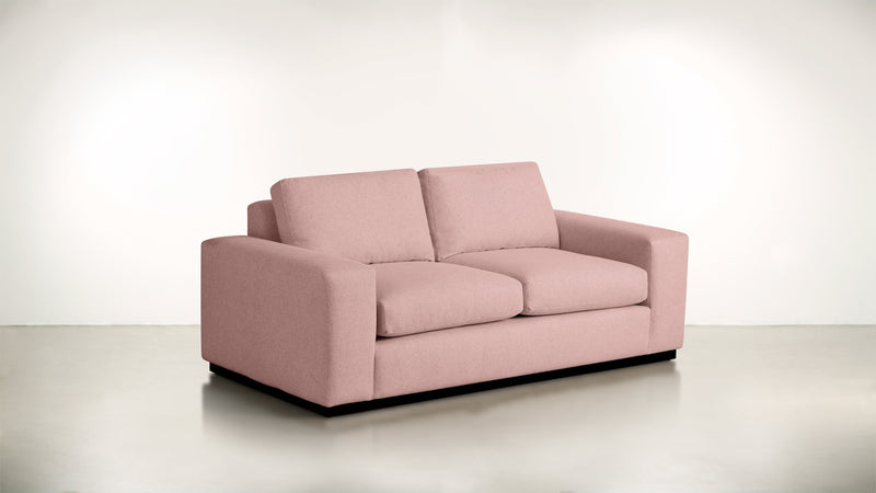 The Pragmatist Sofa 5' Sofa Velvet Knit Blush / Blackw Whom. Home